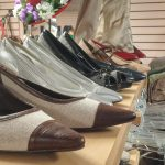 display of shoes and fine clothing